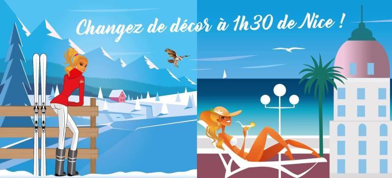 Changez de décor en 1h30 de Nice